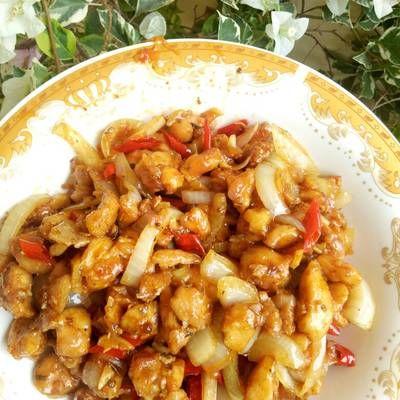 Ayam Kungpao Kungpao Chicken Makanan Dan Minuman Resep Ayam Ayam