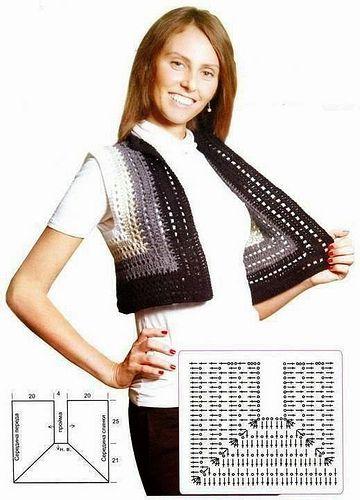 Pin By Roya Kabiri On Dama Crochet Fashion Crochet Jacket Crochet Clothes