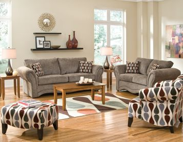 Our Cobblestone living room group by Woodhaven includes sofa  loveseat coffee table two end tables and lamps rug Family Room Pinterest Living