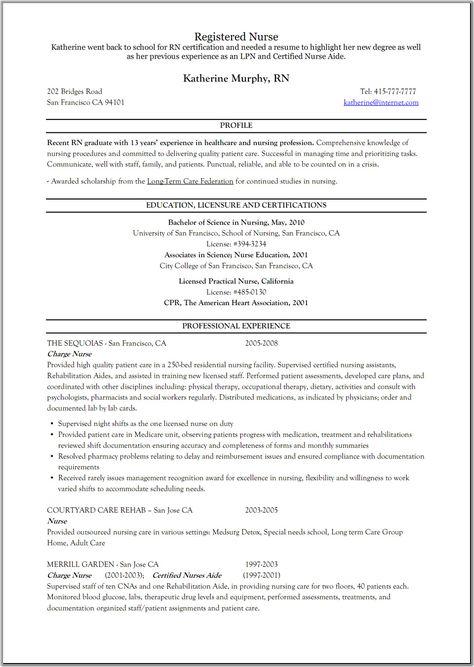 Registered Nurse Resume Rehab | resume | Nursing resume ...