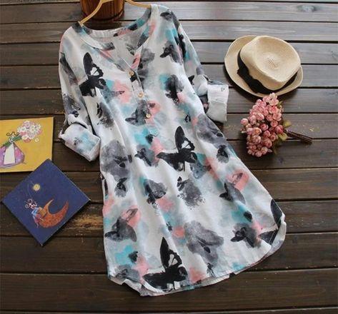 Louisa - Vintage Butterfly Print Dress eotita
