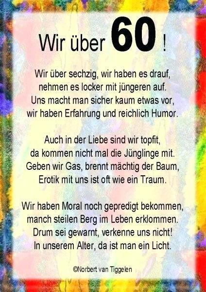 Lustiges Zum 60 Geburtstag Gedicht Kollege Mann Die Besten