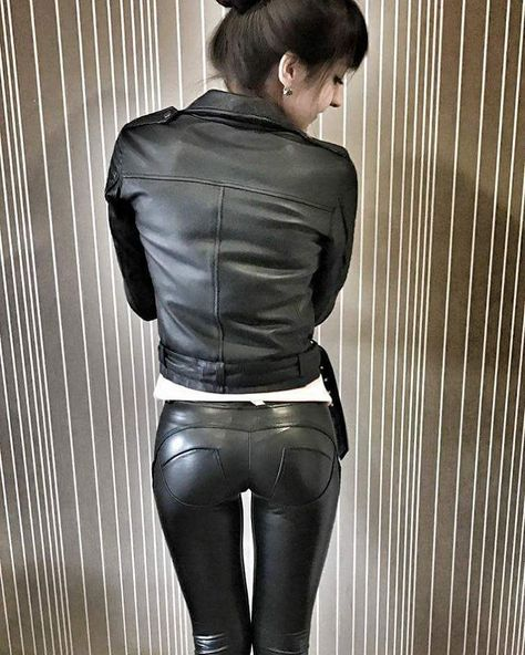 Presenting her brand new WR.UP vegan Leather Pants #laurethdysiac