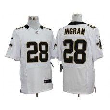 Nike Saints Mark Ingram White Mens NFL Elite Jersey And jersey online india 8c2b43ee5