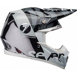 Bell Moto 9 Flex Seven Zone Motocross Helmet Black White M In 2020