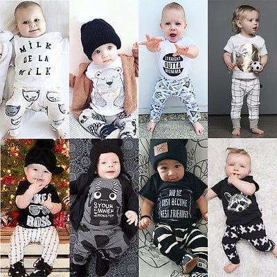 Pantalon Survêtement 2pcs Enfants Garçons Vêtements Bébé Garçon Vêtements Tenues Ensemble Tops