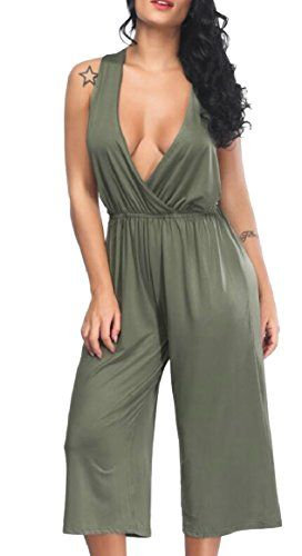 Abetteric Women Short Sleeve Solid Smocked Waist Short-Sleeve Jumpsuit Romper