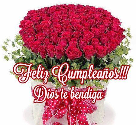 Feliz cumpleanos de rosas rojas