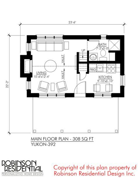The Yukon Tiny House Plans By Robinson Residential Tiny House Floor Plans Tiny House Plans Small House Plans