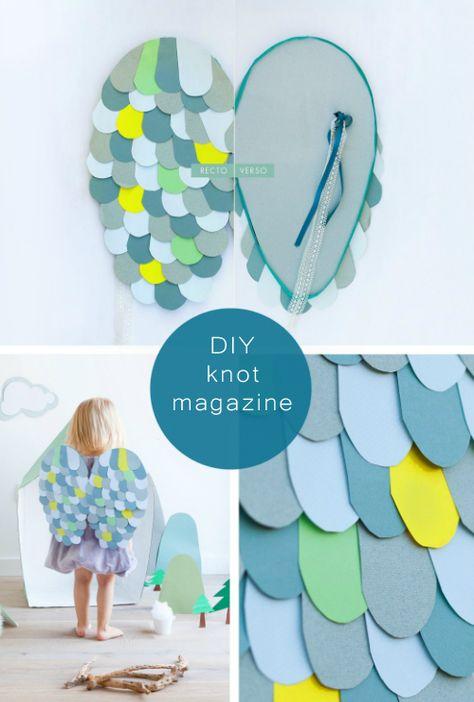 DIY Owl Wings #craft #paper #kids