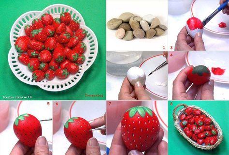 keien beschilderd als aardbeien