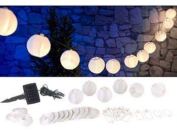Led Lichterkette Solar Warmweiß.Lunartec Solar Led Lichterkette Warmweiss Mit 20 Weissen