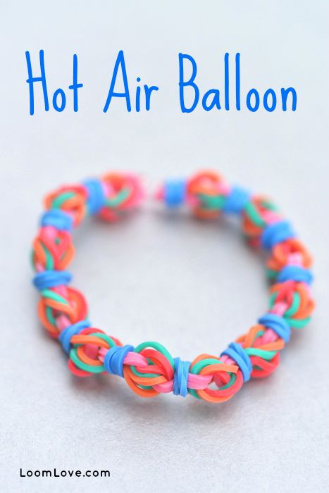 How to make a Hot Air Balloon Bracelet - Rainbow Loom Video Tutorial