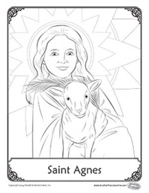 A Free Coloring Page From Brother Francis In Honor Of The Feast