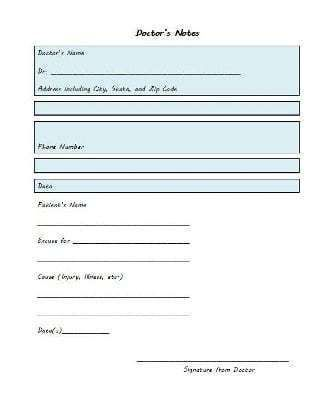 25 Free Doctor Note Excuse Templates Template Lab Doctors Note Template Fake Doctors Note Doctors Note