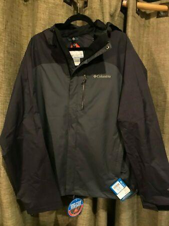 New COLUMBIA JEFFERSON PARK Zip Front Hooded Waterproof OMNI