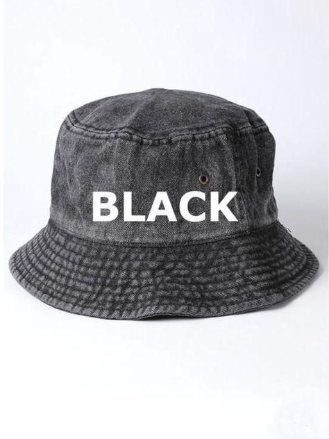Acid Wash Bucket Hat - Acid black wash