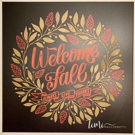 This gorgeous chalkboard sign is so easy to make with our reusable silkscreen transfers and washable chalk paste! Check out all our fun project ideas!