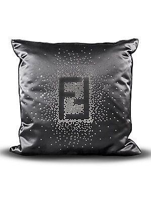 Fendi Casa Swarovski Crystal Fendi Logo Pillow Fendi Casa