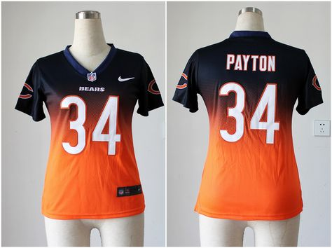 9ccc1b35be6 ... czech womens nike nfl chicago bears 34 walter payton womens navyorange  fadeaway game jersey 19 per