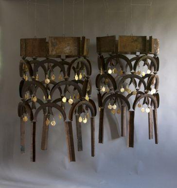 Untitled Chandelier 3/ pair by Sam Orlando Miller