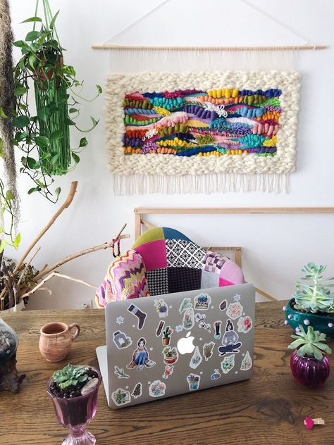 Eva's Doodlings Hand Woven Wall Hanging Tapesrty, Wall art, Home decor, made to order – 2019 - Weaving ideas