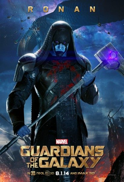 Marvel has released a trio of Guardians of the Galaxy villain posters, highlighting Ronan (Lee Pace), Korath (Djimon Hounsou), and Nebula (Karen GIllan).