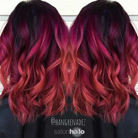 10 Lila Bis Rot Ombre Haarfarbe Rot Ombre Rot Ombre Style In