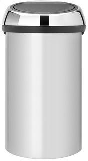 Brabantia Poubelle Touch Bin 60 L Gris Metallique Detail De L