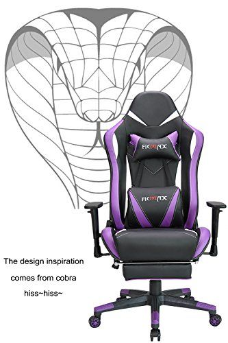 Sensational Ergonomic Chair Ficmax Purple Gaming Chair High Back Squirreltailoven Fun Painted Chair Ideas Images Squirreltailovenorg