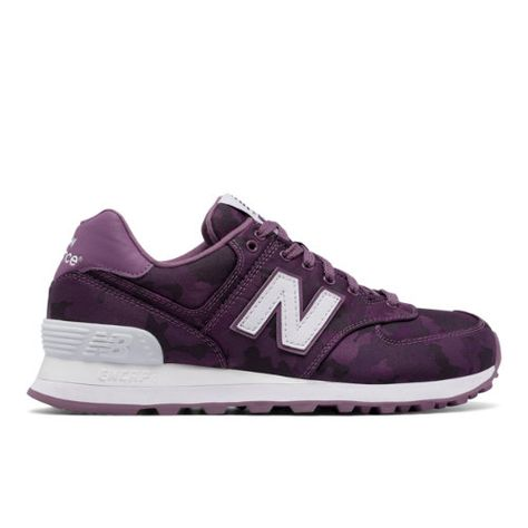 New Balance 574 Camo Women's 574 Sneakers Shoes Purple