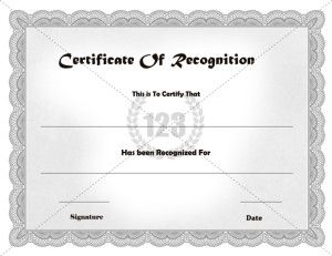 Recognition Certificate Archives Free Premium 123 Certificate