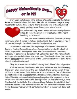 History Of Valentine S Day Article And Activities Valentines Day History Valentine History Valentines