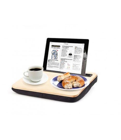 Kikkerland Ipad Ibed Holz Tablethalterung Stander Kissen Lap Desk