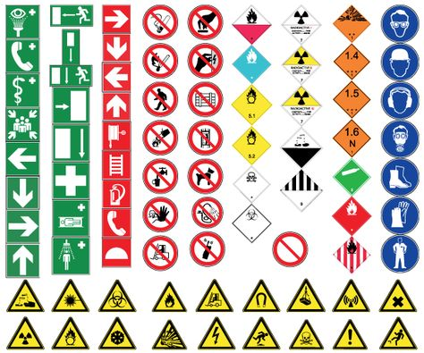 Health And Safety Signs Free Vector Safety Signs And Symbols Health And Safety Vector Free