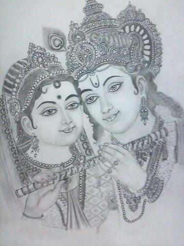 Radha Krishna In 2020 Krishna Drawing Radha Krishna Sketch Art Drawings Sketches Creative