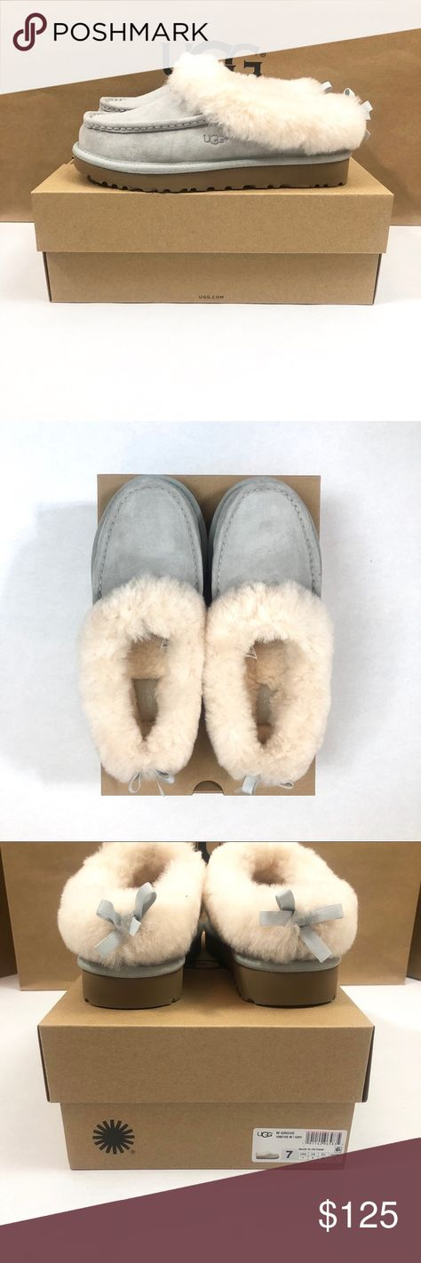 486e344d61 Women s UGG Grove Moccasin Slippers Brand New in Original Box ✳ UGG Grove  Moccasin Slippers
