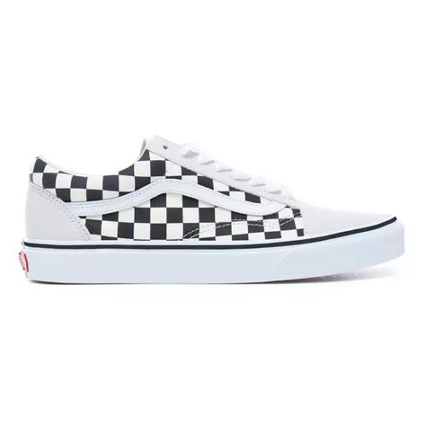 Vans Old Skool Checkerboard White Black Shoes Schoenen Dames Schoenen Skateschoenen
