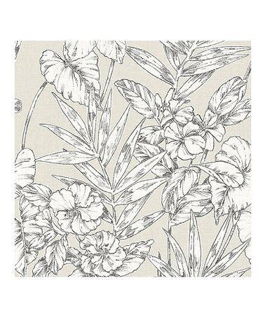 Loving This Gray Cayman Peel Stick Wallpaper On Zulily Zulilyfinds Floral Wallpaper Peel And Stick Wallpaper Turquoise Floral Wallpaper