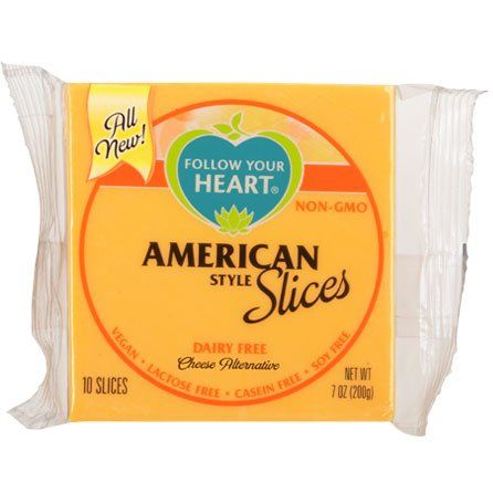 Follow Your Heart American Slices Cheese Alternatives Dairy Free Vegan Cheese