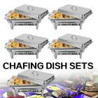 9 L Chafing Dish Pan Tray Set Stainless Steel Party Cater Food Warmer Fuel NEW Share £135.12 #stainlesssteel #chafingdish #partydish