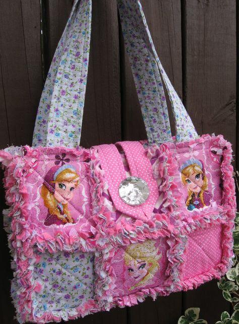 Disney Frozen Princess Elsa Anna Purse Bag Rag by BizzyMamas