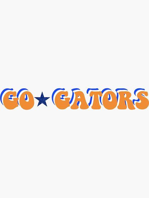 Golf Cart Discover UF Sticker Sticker by sick--sticks School Spirit Wear, School Spirit Shirts, Univeristy Of Florida, Marquette University, State University, Gator Logo, Colleges In Florida, Game Day Shirts, College Gifts