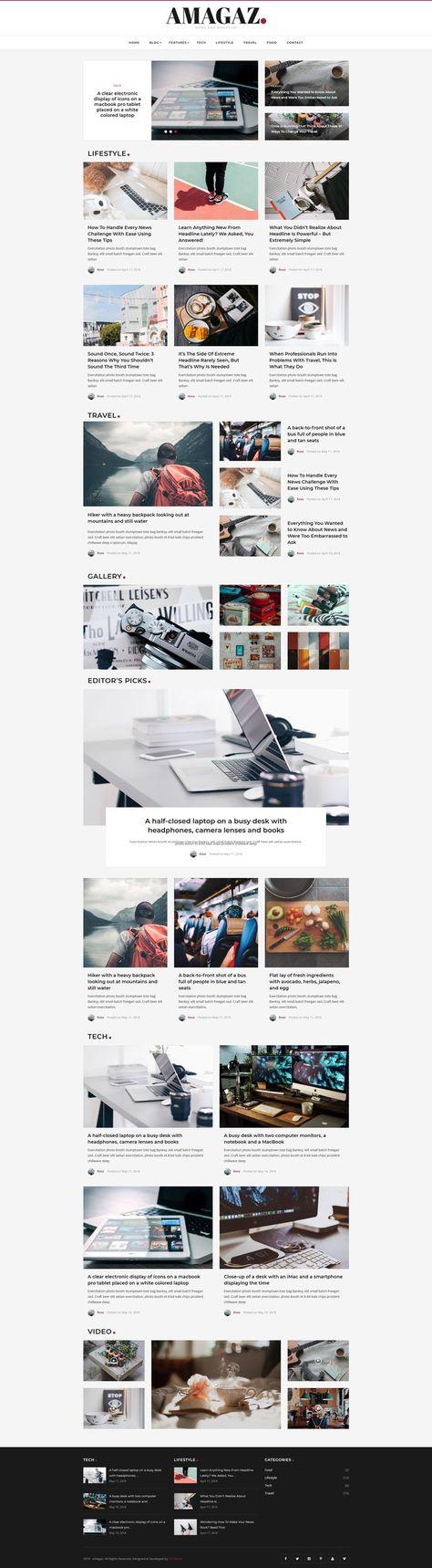 Amagaz - News and Magazine WordPress Theme - AZ-Theme.Net