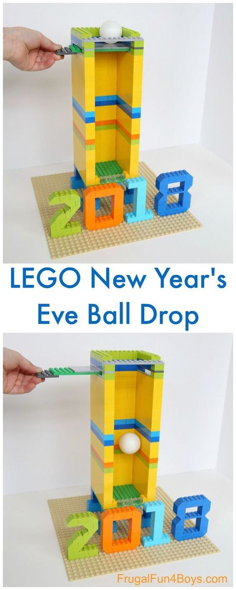 Build A New Year S Eve Ball Drop With Lego Bricks Kids New Years