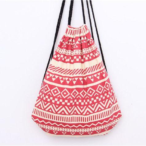 cf006ed8168d MAKORSTER summer Japan and Korean Style backpack beach drawstring bag  Canvas kawaii women rucksacks for girls