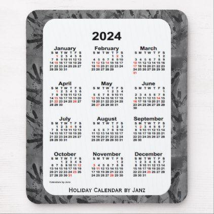 2024 Black Art Holiday Calendar By Janz Mouse Pad Holidays Diy