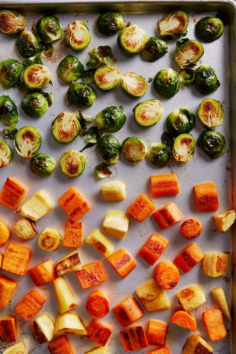 Root Vegetable Medley with Brussels Sprouts | Vegetarian Times