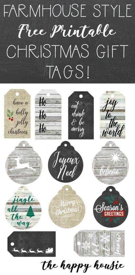 image regarding Printable Gift Tags Free titled Pinterest