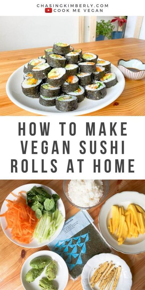 Here's some dinner Inspiration for you guys!! We had Vegan Sushi in 3 Ways and our friends loved it. Sushi was one of our favorites before going Vegan but now we love how we can easily make it with simple ingredients from home. We used Avocado, Mango and Tofu and mix and match the combination. I particularly love the tofu and avocado combination!!! Yummy!